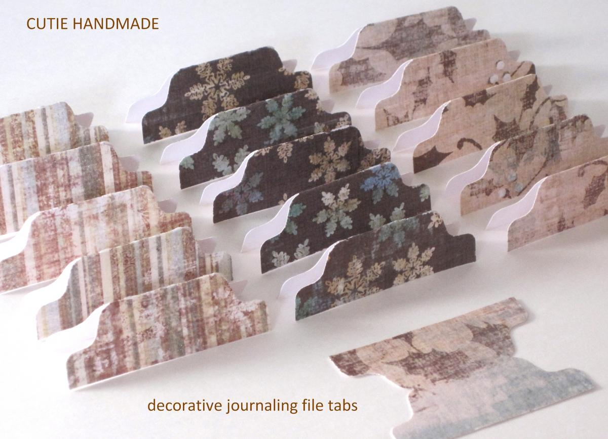 15 Decorative Journal Divider Tabs (WBTAB15)