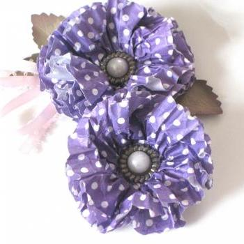 Poka Dot Cupcake Flower